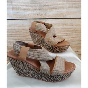 🌟HP🌟 Lucky Brand Thick Strappy Wedges 8